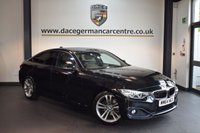 USED 2015 64 BMW 4 SERIES 2.0 420I SPORT GRAN COUPE 4DR AUTO 181 BHP + FULL BLACK LEATHER INTERIOR + 1 OWNER FROM NEW + BUSINESS SATELLITE NAVIGATION + XENON LIGHTS + BLUETOOTH + HEATED SPORT SEATS WITH MEMORY + DAB RADIO + CRUISE CONTROL + PARKING SENSORS + 18 INCH ALLOY WHEELS +