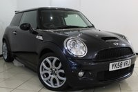 USED 2008 58 MINI HATCH COOPER 1.6 COOPER S CHILI PACK 3DR 172 BHP HALF LEATHER SEATS + AIR CONDITIONING + RADIO/CD + ELECTRIC WINDOWS + ELECTRIC MIRRORS + 16 INCH ALLOY WHEELS