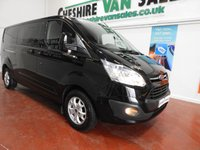 USED 2015 15 FORD TRANSIT CUSTOM 2.2 290 LIMITED 6 SEAT CREW VAN L2 LWB  125 BHP LARGE CHOICE FACTORY CREW VANS