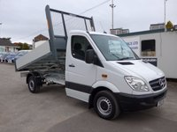 USED 2013 13 MERCEDES-BENZ SPRINTER 313 CDI MWB TIPPER, 130 BHP [EURO 5], 1 COMPANY OWNER