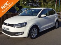 2013 VOLKSWAGEN POLO 1.4 MATCH EDITION DSG 5dr Automatic, One Owner! £9990.00