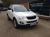 2013 VAUXHALL ANTARA 2.2 SE NAV CDTI 4WD S/S 5d 182 BHP IN WHITE WITH LEATHER INTERIOR £7990.00