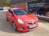 2009 VAUXHALL CORSA 1.6 VXR 3 DOOR 192 BHP IN RED WITH 53000 MILES £5990.00