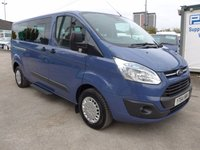 USED 2014 64 FORD TOURNEO CUSTOM 2.2 300 ZETEC TDCI 9 SEATER, 124 BHP, HEATED SEATS, AIR CON, FULL SERVICE HISTORY