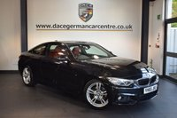 USED 2015 65 BMW 4 SERIES 2.0 420D M SPORT 2DR AUTO 188 BHP + FULL RED LEATHER INTERIOR + 1 OWNER FROM NEW + PRO SATELLITE NAVIGATION + HEATED SPORT SEATS + XENON LIGHTS + BLUETOOTH + DAB RADIO + CRUISE CONTROL + PARKING SENSORS + 18 INCH ALLOY WHEELS +