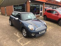 2010 MINI HATCH COOPER 1.6 COOPER D 3 DOOR 108 BHP WITH 78000 MILES IN MET BLUE  £4490.00