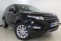USED 2014 64 LAND ROVER RANGE ROVER EVOQUE 2.2 SD4 PURE 5DR AUTOMATIC 190 BHP HEATED LEATHER SEATS + CLIMATE CONTROL + PARKING SENSOR + BLUETOOTH + CRUISE CONTROL + MULTI FUNCTION WHEEL + 18 INCH ALLOY WHEELS