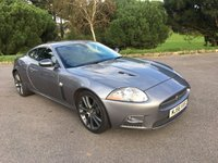 USED 2006 56 JAGUAR XK 4.2 XKR 2d AUTO 416 BHP EXCELLENT CONDITION XKR WITH FULL SERVICE HISTORY IN GREY WITH FULL BLACK LEATHER