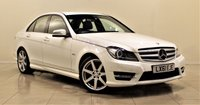 USED 2011 61 MERCEDES-BENZ C CLASS 2.1 C220 CDI BLUEEFFICIENCY SPORT ED125 4d AUTO 170 BHP + 1 PREV OWNER +  SAT NAV + AIR CON + AUX + BLUETOOTH + SERVICE HISTORY