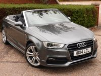 USED 2014 14 AUDI A3 1.4 TFSI S LINE 2d 148 BHP NEED FINANCE ?  POOR CREDIT WE CAN HELP! JUST ASK ! CLICK THE LINK AND APPLY 24/7!! SUPERB AUDI CONVERTIBLE!!