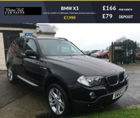 USED 2008 58 BMW X3 2.0 D SE 5d AUTO 175 BHP black 57000 miles fsh very clean example
