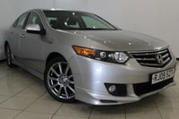 USED 2009 09 HONDA ACCORD 2.2 I-DTEC ES GT 4DR 148 BHP FULL SERVICE HISTORY + HALF LEATHER SEATS + SAT NAVIGATION + REVERSE CAMERA + CRUISE CONTROL + MULTI FUNCTION WHEEL + CLIMATE CONTROL + 17 INCH ALLOY WHEELS