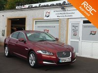 USED 2014 64 JAGUAR XF 2.2 D LUXURY 4d AUTO 200 BHP 4 service stamps ,Navigation ,Reverse camera ,Bluetooth and ASL Function