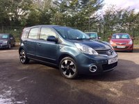 2012 NISSAN NOTE 1.4 N-TEC PLUS 5d SAT NAV AND SERVICE HISTORY £4500.00
