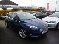 USED 2016 65 FORD FOCUS 1.0 ZETEC 5d 100 BHP NEED FINANCE? WE CAN HELP. WE STRIVE FOR 94% ACCEPTANCE