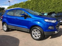 2014 FORD ECOSPORT 1.0 TITANIUM 5d 125BHP WITH 3 MAIN DEALER SERVICE STAMPS  £8500.00