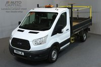 USED 2015 15 FORD TRANSIT 2.2 350 L2 MWB 124 BHP TIPPER ONE OWNER FROM NEW, MOT TILL 06/02/2019
