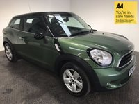 USED 2014 64 MINI PACEMAN 2.0 COOPER D 3d AUTO 112 BHP FULL MINI HISTORY - 1 OWNER - LOW MILES - BLUETOOTH - AUX/DAB/USB - AIR CON - PARKING SENSORS