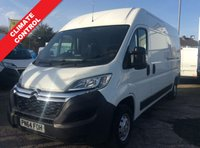 USED 2014 64 CITROEN RELAY LWB 2.2 35 L3H2 ENTERPRISE HDI 129 BHP 1 OWNER FSH NEW MOT FREE AA WARRANTY, RECOVERY AND ASSIST NEW MOT ELECTRIC WINDOWS AND MIRRORS CLIMATE CONTROL SATELLITE NAVIGATION REAR PARKING SENSORS MULTI FUNCTIONAL STEERING WHEEL 6 SPEED BLUETOOTH