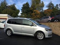 2011 VOLKSWAGEN TOURAN 2.0 SE TDI BLUEMOTION TECHNOLOGY 5d 138 BHP £9495.00