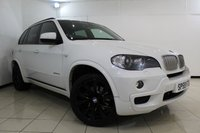 USED 2009 59 BMW X5 3.0 XDRIVE35D M SPORT 5DR 282 BHP SAT NAVIGATION + HEATED LEATHER SEATS + SAT NAVIGATION PROFESSIONAL + ELECTRIC PANORAMIC ROOF + PARKING SENSOR + BLUETOOTH + CRUISE CONTROL + CLIMATE CONTROL + ALLOY WHEELS