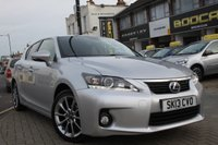 2013 LEXUS CT 1.8 200H ADVANCE 5d AUTO 136 BHP £11495.00