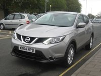 USED 2014 64 NISSAN QASHQAI 1.5 DCI ACENTA SMART VISION 5d 108 BHP only 15.831 miles, zero road tax, smart vision pack.