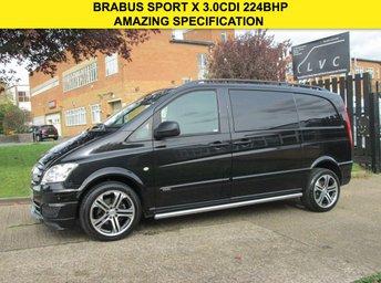 2013 MERCEDES-BENZ VITO 3.0 122CDI VITO BRABUS SPORT X DUALINER AUTO 224 BHP. 5 SEATS.  £18990.00