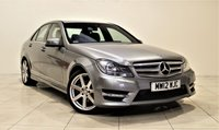 USED 2012 12 MERCEDES-BENZ C-CLASS 2.1 C220 CDI BLUEEFFICIENCY SPORT 4d AUTO 168 BHP + 1 PREV OWNER +  SAT NAV + AIR CON + AUX + BLUETOOTH