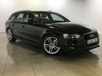 USED 2014 14 AUDI A4 2.0 AVANT TDI S LINE 5d  One Owner From New/Huge Spec