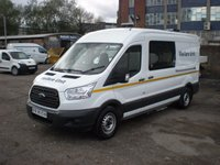 2015 FORD TRANSIT 2.2 L3 H2 FWD 124 BHP CREW MESS,MESSING UNIT,WELFARE TOILET VAN £21995.00