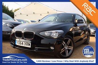 2014 BMW 1 SERIES 1.6 116I SPORT 3d 135 BHP £13000.00