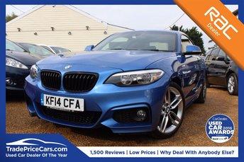 2014 BMW 2 SERIES 2.0 220I M SPORT 2d 181 BHP £17000.00