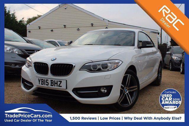View our 2015 15 BMW 2 SERIES 2.0 218D SPORT 2d AUTO 141 BHP