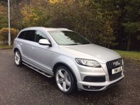 USED 2011 11 AUDI Q7 3.0 TDI QUATTRO S LINE 5d AUTO 240 BHP 6 MONTHS PARTS+ LABOUR WARRANTY+AA COVER