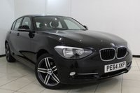USED 2014 64 BMW 1 SERIES 1.6 116I SPORT 5DR 135 BHP BLUETOOTH + CRUISE CONTROL + MULTI FUNCTION WHEEL + AIR CONDITIONING + 17 INCH ALLOY WHEELS