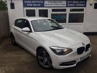 USED 2012 62 BMW 1 SERIES 2.0 116D SPORT 5d 114 BHP 44K FSH TWO LADY OWNERS KEYLESS IGNITION. EXCELLENT CONDITION