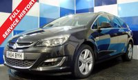 """USED 2014 64 VAUXHALL ASTRA 2.0 SRI CDTI S/S 5d 163 BHP A very clean example of this very practical diesel estate ,this car comes with full dealer service history ,the car is in very good condition finished in an unmarked dark metalic grey complemented with 17""""  five twin spoke alloys this car looks and driver perfectly"""