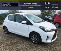 USED 2015 15 TOYOTA YARIS 1.4 D-4D ICON 5d 44000 miles 1 owner fsh in white stunning little car