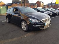 USED 2014 64 PEUGEOT 308 1.6 HDI SW ACTIVE 5d 92 BHP WITH AIR CONDITIONING, BLUETOOTH,CRUISE CONTROL, AND TRACTION CONTROL!!..EXCELLENT FUEL ECONOMY!!..LOW CO2 EMISSIONS..VAUXHALL WARRANTY TO 2020!!..ONLY 2639 MILES FROM NEW!!