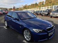 USED 2007 57 BMW 3 SERIES 3.0 335D M SPORT 4d 282 BHP Le Mans Blue, Black leather, high spec inc Sat Nav, Media & radar cruise ++