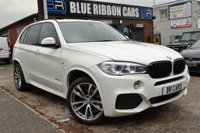 USED 2014 63 BMW X5 3.0 30d M Sport xDrive 5dr (start/stop) FBMWSH 1 OWNER, WHITE LEATHER