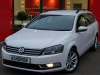 USED 2014 14 VOLKSWAGEN PASSAT ESTATE 2.0 TDI EXECUTIVE BLUEMOTION TECH 5d 140 S/S UPGRADE PARK ASSIST SENSORS WITH AUTOMATIC STEERING, TOUCH SCREEN SAT NAV, FULL BLACK LEATHER INTERIOR, HEATED FRONT SEATS, BLUETOOTH PHONE & MUSIC STREAMING, FRONT & REAR PARKING SENSORS WITH DISPLAY, DAB RADIO, CRUISE CONTROL, LIGHT & RAIN SENSORS WITH AUTO DIMMING REAR VIEW MIRROR, AUTO HILL HOLD, MDI INPUT FOR IPOD/USB DEVICES, 1 OWNER FROM NEW, SERVICE HISTORY.  £30 ROAD TAX