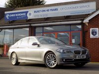USED 2015 15 BMW 5 SERIES 520D LUXURY 4dr AUTO (188) Pro Sat Nav *ONLY 9.9% APR with FREE Servicing*