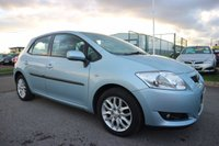 USED 2007 57 TOYOTA AURIS 1.6 TR VVT-I 5d 122 BHP LOW DEPOSIT OR NO DEPOSIT FINANCE AVAILABLE.