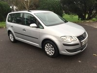 USED 2009 58 VOLKSWAGEN TOURAN 1.9 S TDI 5d 103 BHP ONE OWNER 7 SEATER WITH FSH
