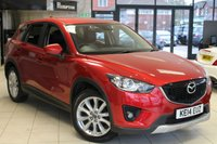 USED 2014 14 MAZDA CX-5 2.2 D SPORT NAV 5d 148 BHP FULL MAZDA SERVICE HISTORY + FULL BLACK LEATHER SEATS + REVERSE CAMERA + BLUETOOTH + CRUISE CONTROL + 19 INCH ALLOYS + HEATED FRONT SEATS + RAIN SENSORS + HILL START ASSIST + AUTOMATIC WIPERS
