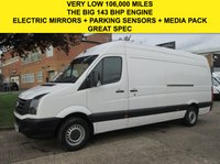 USED 2012 12 VOLKSWAGEN CRAFTER 2.0TDI CR35 LWB HIGH ROOF 143BHP. ONLY 106,000 MILES. FSH LOW RATE FINANCE. BIG SPEC. WARRANTY. PX WELCOME