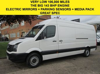 2012 VOLKSWAGEN CRAFTER 2.0TDI CR35 LWB HIGH ROOF 143BHP. ONLY 106,000 MILES. FSH £6990.00