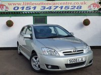 USED 2005 05 TOYOTA COROLLA 1.6 T3 COLOUR COLLECTION VVT-I 5d 109 BHP FULL SERVICE HISTORY, GENUINE 44,000 MILES, ONE OWNER FROM NEW